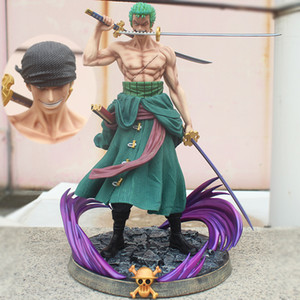 37cm Anime One Piece Statue Action Figure Gk Roronoa Zoro PVC Figur Collectible Modell Spielzeug