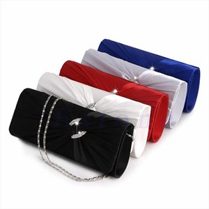 Evening Bags THINKTHENDO Womens Bridal Shoulder Clutch Bag Bling Rhinestone Evening Handbag Purse Drop Shipping