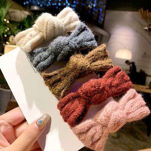 Clip di inverno lavorato a maglia di capelli dell'arco per i clip accessori Pins capelli delle donne dolci dell'arco annodata forcelle Barrettes dei capelli delle ragazze di BB