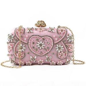 Pink sugao crystal Luxury evening bag fashion shoulder bag Bling party purse Top diamond Boutique women wedding Day clutch bag