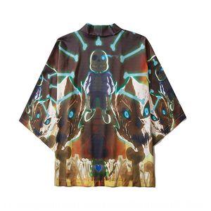 2020 primavera e l'estate nuova coppia stampato Cartoon Cloak kimono del fumetto di sette quarti manica mantello kimono