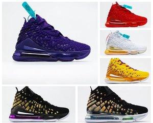 Ayakkabı Lebron 17 Gang monstar'lar GS Mr Swackhammer 2K Lakers Kırmızı Halı CD5050-400 Lebrons 17s 2020 erkek basketbol ayakkabıları yeni varış