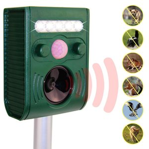 Ücretsiz Kargo GGREATHOUSE Bahçe Güneş dış T200619 için Ultrasonik Hayvan Kovucu Kovucu Köpek Kedi Kuşlar Fox Powered