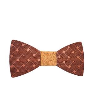 Sitonjwly Handmade Solid Wooden Bowtie for Mens Suits Wedding Groom PartyWood Bow Tie Gentleman Corbatas Hombre Pajarita Gifts