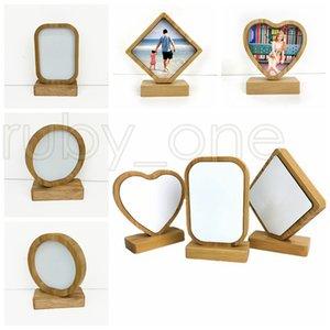 Термотрансферная Bamboo Photo Frames 4 стили Bamboo Crafts Сублимация Blank Picture Rahmen Для рождественские подарки Настольные украшения RRA3501