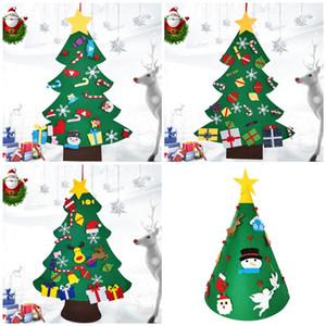 2020 Vier Arten von Filz Weihnachtsbaum Weihnachtsgeschenk liefert DIY dreidimensionale Felt Weihnachtsbaum T3I51003