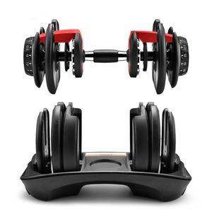 Novo peso de halteres ajustável 5-52.5lbs exercícios de fitness halteres tonificar a sua força e construir seus músculos FY7221