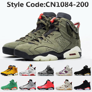 nike air jordan retro 6 Jumpman Stock x Travis Scott 6 6s Hommes Chaussures de basket-ball 3M réfléchissant infrarouge Ducks entraîneurs des hommes de chaussures de sport
