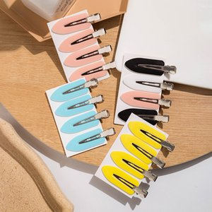 4pcs / set Japanese Style Oval Hairpin No Trace Styling Dekoration Mode Haarnadel Nizza Geschenk-Metallhaarschmuck