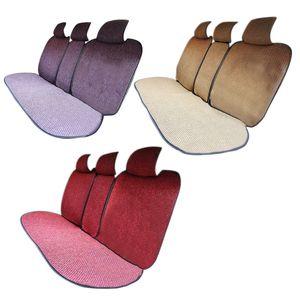 Large Size Flax Auto-Sitzabdeckung Schutz Leinen Rücksitzrückenkissen-Auflage-Matte Rückenlehne für Auto-Innenraum LKW Suv