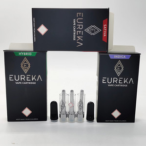 Eureka Vaporizers Vape Carts 510 Thread Screw On Tip Cartridges Ceramic Coil 0.8ml Empty Atomizers Childproof Package Kits E Cigs