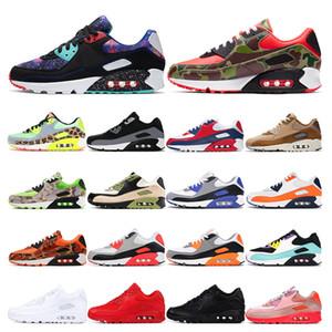 nike air max 90  Marca bule nero bianco rosso Piatto Moda uomo donna Calze Stivali Sneakers moda Trainer Runner taglia 36-45