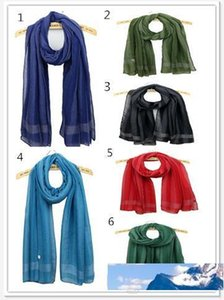 stripe Scarfs For Women Cotton voile Scarves Shawls 12 Colors Christmas Gifts For Ladies WJ30