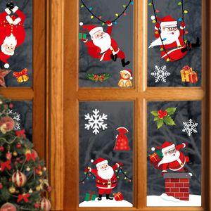 Wall Feliz Navidad Pegatinas Moda Santa Claus ventana Habitación Decoración Año Nuevo decoración del hogar del envío de DHL