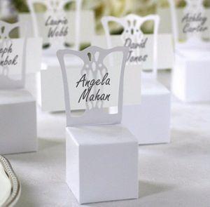 2016 Держатель Нового Председатель Place Card и Favor Box лучше для коробки конфет и свадебная коробка, вечеринки события 50шта WXmk предметов снабжения #