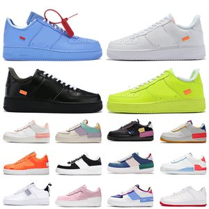 OFF-WHITE x Air Force 1 one wholesale 2020 Utility White Dunk 1 tênis de corrida dos homens mulheres MCA University Blue Low Cut Wheat Black AIR Force Skateboarding Trainer