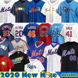 48 Jacob deGrom Mets Jersey 39 Kevin Kiermaier 12 Wade Boggs 20 Pete Alonso 31 Mike Piazza 34 Nuh Syndergaard 6 Jeff McNeil 16 Dwight Goode