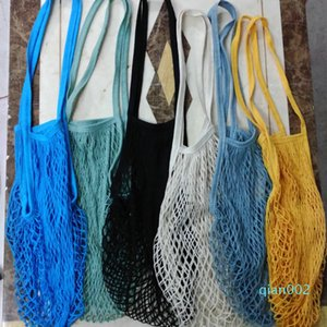 borse riutilizzabili per la frutta verdura pieghevole della rete della maglia filo di cotone Shoulder Bag mano Totes Per Cucina Sfiziosa Borse HH7-1204