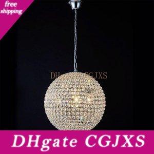 Crystal cubierta pendiente de la luz 15cm 20cm 25cm 30cm Crystal Light sala de estar / dormitorio / comedor / Pasillo de iluminación K9 colgante de la bola de cristal L