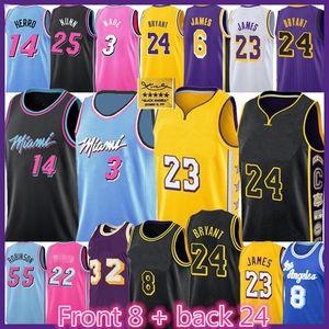 LeBron 23 James Basketbol Jersey Bryant Dwyane Wade Jimmy Butler Anthony Tyler Davis Earvin Herro Nunn ısıtır Johnson O'Neal MiamiEleme Yarışları