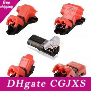 D1 D2 H2 T1 T2 Quick empalme de cable Conector de cableado Para AWG24 -18 1pin 2pin tira llevada del cable de alambre eléctrico Crimp Terminal Blocks Conductor