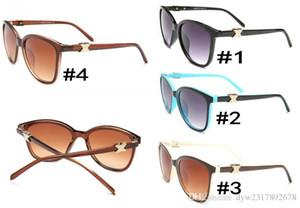 Güneş gözlüğü Kedi Göz Kulübü Marka Tasarımcı Güneş Gözlükleri Gruplar Gafas de sol vaka Cheap ile Erkekler Kadınlar Ayna cam Lensler
