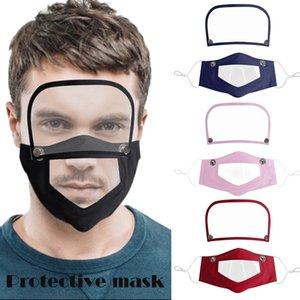 Видимый Рот Face Cover Съемная Eye Shield против пыли Многоразовый моющийся Transparent Language Lip Mask глухонемой маска OWD1091