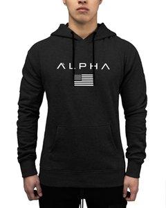 hoodies ALPHA hommes Automne marque de mode Pull manches longues en coton blanc blackSportswear Sweat-shirt Vêtements pour hommes Survêtements Moleton