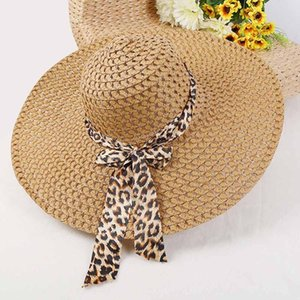 Women Beach Hat Lady Fashion Derby Cap Wide Brim Floppy Fold Summer Bohemia Holiday Seaside Sunscreen Sun Straw Hat Accessories Wholesale