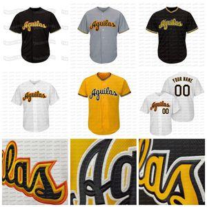 Aguilas Cibaeñas Dominican Baseball Team personalizzato Baseball Jersey cucito Nome Scheded Numero di alta qualità Nero Giallo Gret Bianco