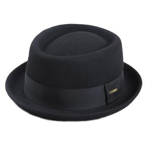 Sedancasesa 100% Австралия Wool Mens Fedora Hat Свиной Pie Шляпы для Классические церкви войлока Hat 2020 Новая осень зима