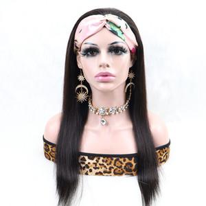 Human Hair Headband Wigs Human Hair Super Easy Half Wig Brazilian Virgin Hair Full Texture Wigs For Black Women