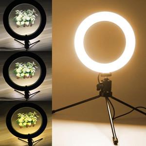 """10.2"""" Ring LED Desktop fotografica selfie Anello di illuminazione con il basamento per Smartphone Youtube Trucco Video Studio Treppiede Dimma Light Ring"""