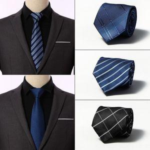 Shengzhou 8 centimetri carriera di affari di nozze cravatta di seta nuovo poliestere legame degli uomini degli uomini WAaG5 Manu Shengzhou
