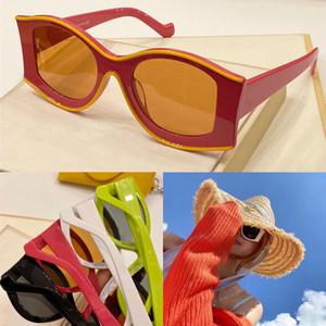 Yeni moda güneş gözlüğü özel tasarım renk çerçeve İtalyan plaka oval mercek avangart tarzı eğilim tasarımını ithal LW