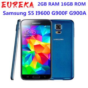 الأصلي مقفلة Samsung S5 i9600 G900F G900A G900H 5.1 بوصة 2 جيجابايت RAM 16GB ROM رباعية النواة 16MP GPS تم تجديده