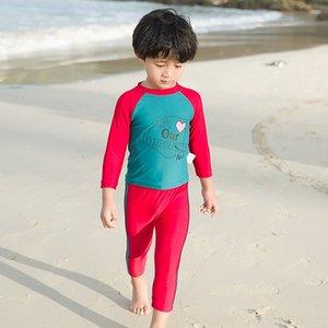 Warm manguito partido y calientes largas chicos de hu8zq niños traje de baño caliente chicas linda de la historieta del traje de baño de primavera