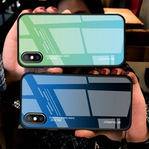 3D Artistic Gradient Tempered Glass Shockproof Shield Phone Case For iPhone 11 Pro Max 11Pro XS X XR 7 8 Plus 6 6S Phone Protection Cover
