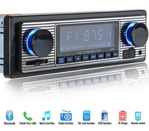 by DHL or Fedex 50pcs 12V Bluetooth Auto Car Radio 1DIN Stereo Audio MP3 Player FM Radio Receiver Support Aux Input SD USB