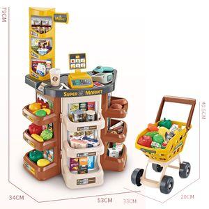 Дети магазин Супермаркет корзина Cash Регистрация Овощи Food Play Set Магазин игрушек для детей игры для девочек Simulation супермаркет