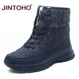 JINTOHO Moda Kadınlar Kış Günlük Kadınlar Kış Boots Orta Buzağı Kar Boots Marka Kadın Ayakkabı Motosiklet Platformu Ayakkabı