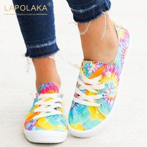 Lapolaka 2020 Sıcak Satış Lace Up INS Sıcak Dropship Ayakkabı Bayanlar Flats Çapraz bağlı Casual Sığ Flats Kadın Ayakkabı