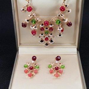 2019 nueva moda boda joyería ventilador colgante collar para las mujeres 18k joyería chapada en oro collares de boda