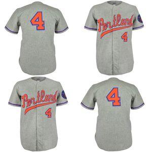 Portland Beavers 1968 Strada Jersey 100% cucito ricamo Vintage baseball pullover su ordinazione di trasporto