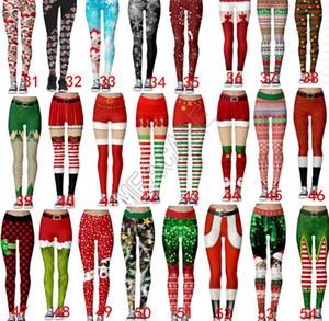 Santa Kadın Tayt Spor Skinny Tayt Legging Pantolon Yoga Koşu Uzun Pantolon İnce Ter Pantolon Noel Karikatür İç D9104
