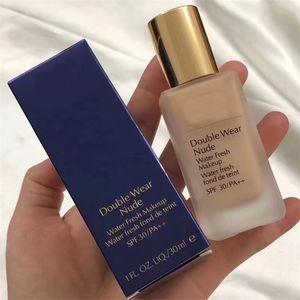 FEDEXversenden Doppel Wear Nude flüssige Foundation mit Pumpe Wasser Frischen Makeup 30ml Farbe 1W1 2C0