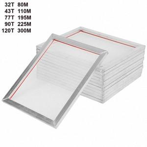 5Pack 46cm * 41cm Impression Aluminium Sérigraphie Presse FRAME écrans blancs 18 '' x16 '' 32T 43T 77T 90T 120T Mesh Out Taille 46cm * 41cm GAq8 #