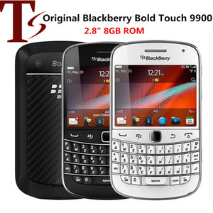 Recuperado Original Blackberry Bold Touch 9900 de 2,8 polegadas 8GB ROM 5MP Camera Touch Screen inteligente 3G Mobile Phone
