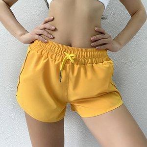 Frauen-Sport läuft Yoga Fitnesshose Feuchtigkeitsaufnahme Schweiß Shorts und kurze Hosen schnell trocknend Boden Pack