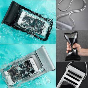 téléphone mobile de haute qualité pluie sac étanche natation transparent anti-poussière à cheval résistant aux rayures pour dessous de 160 * taille du téléphone 80mm